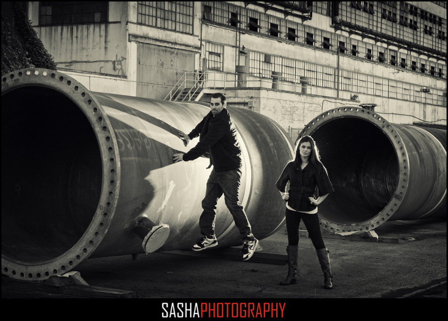 urban engagement session photo