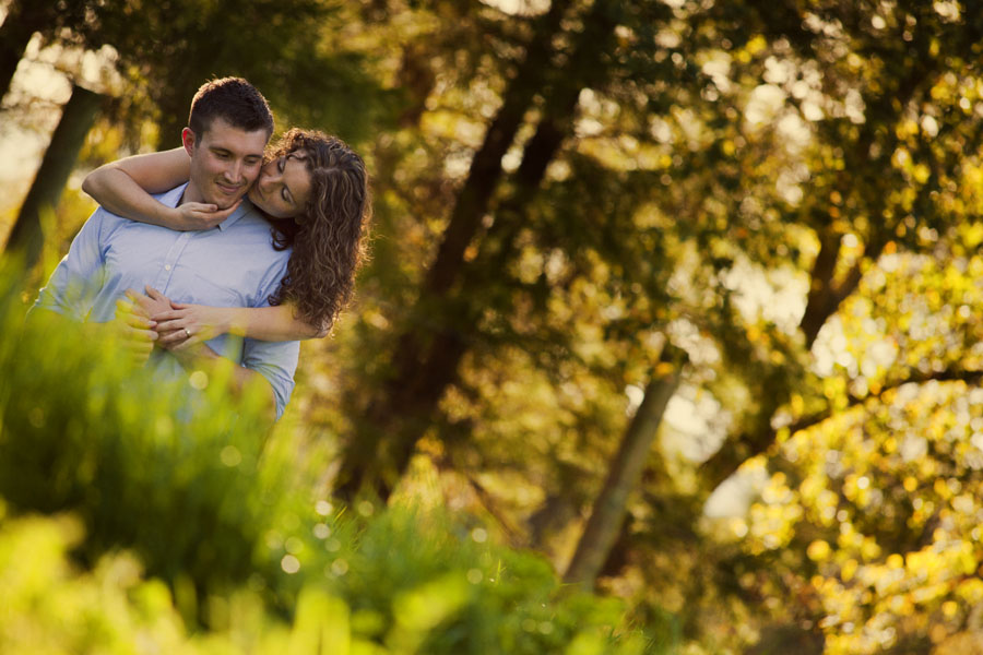 country farm engagement session