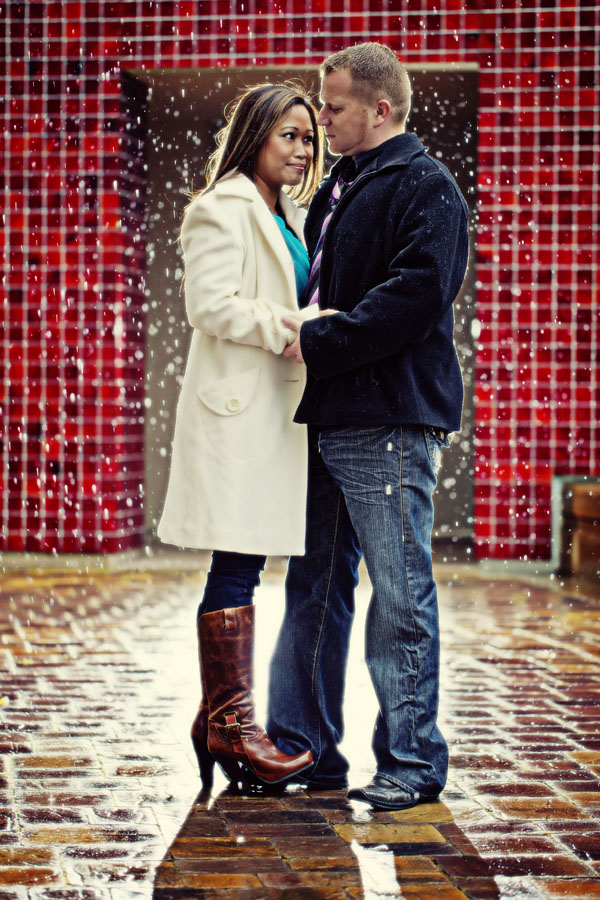 san francisco rain engagement session