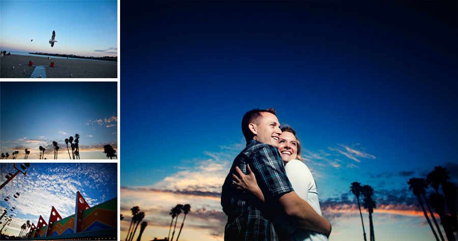 santa cruz beach boardwalk engagement session