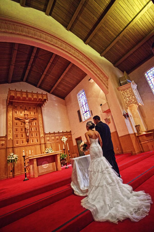 santa maria church orinda wedding