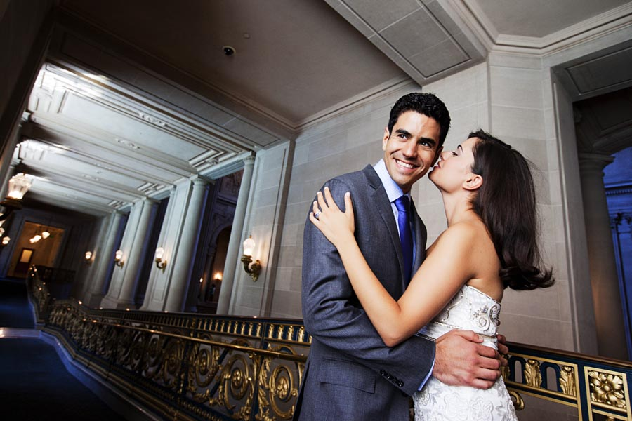 sf city hall wedding photo