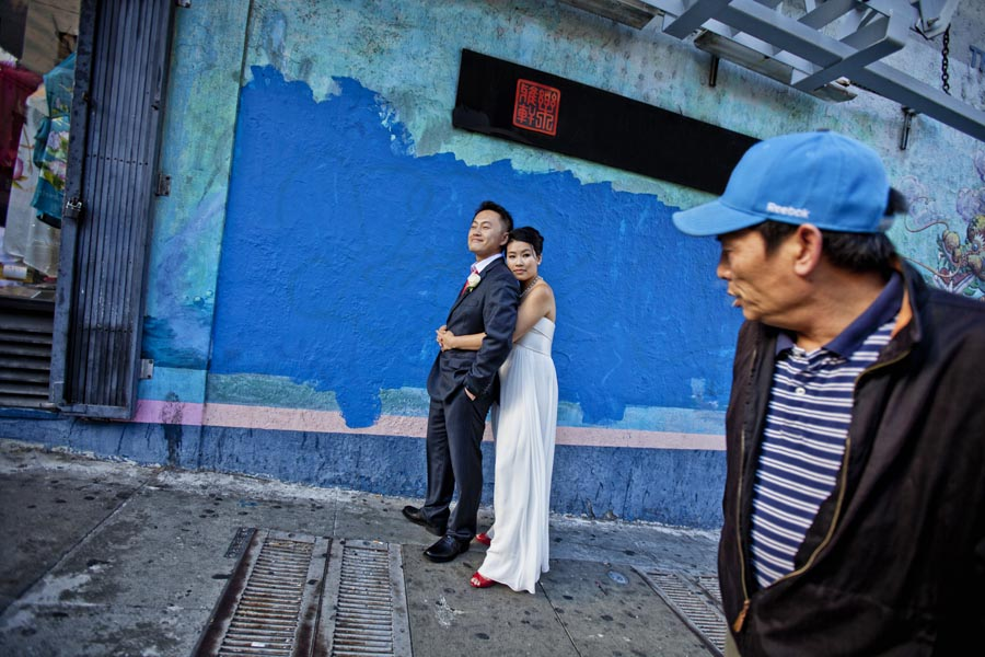 san francisco chinatown wedding photo