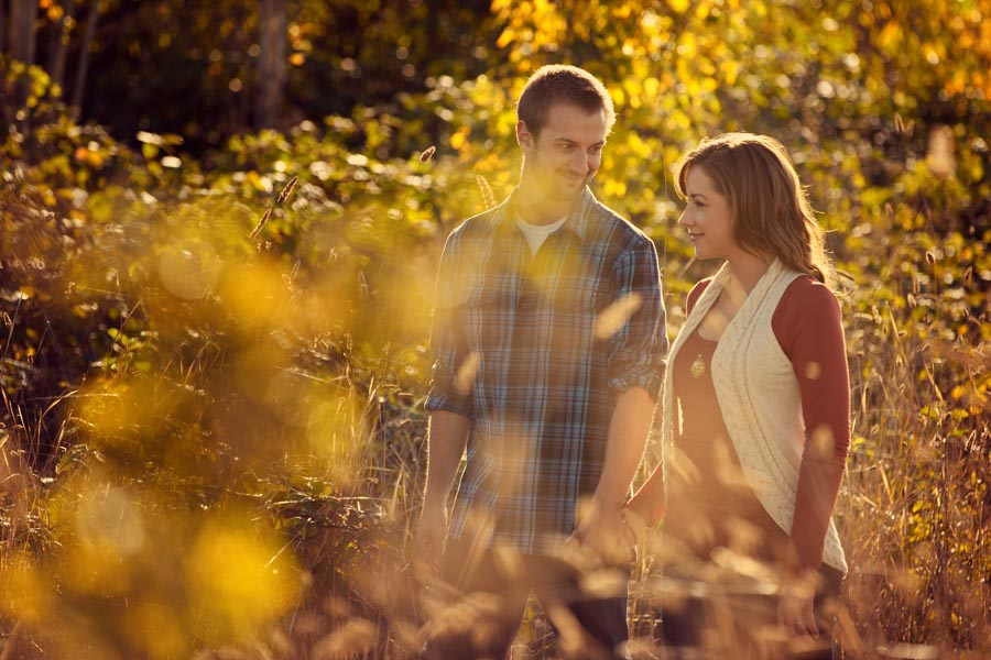 wine country engagement session