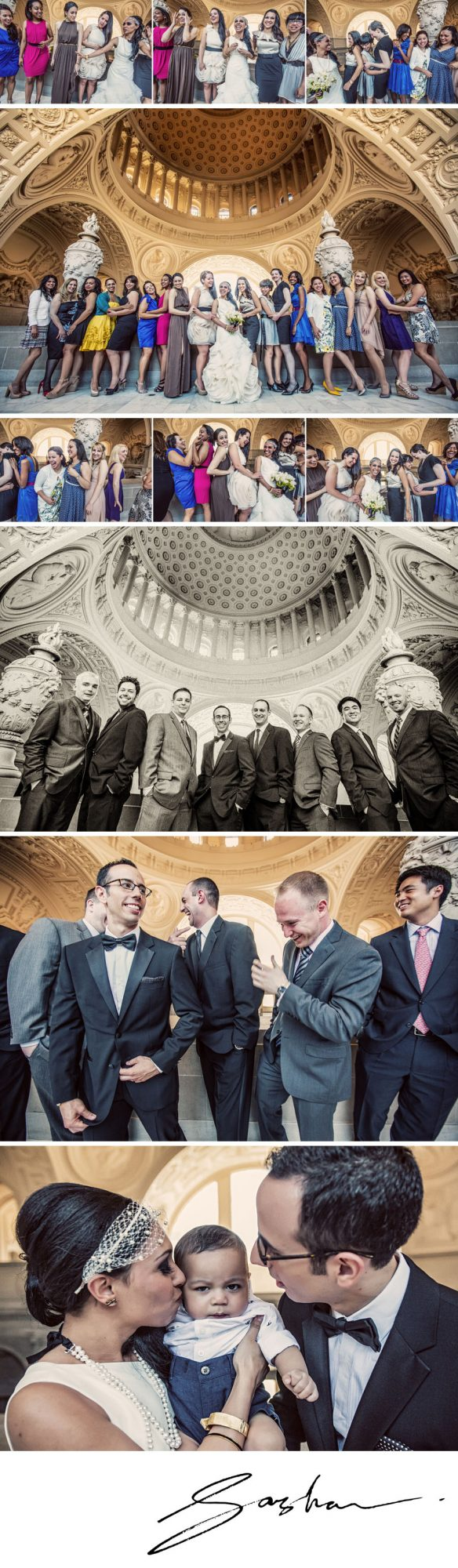 san francisco city hall wedding portraits