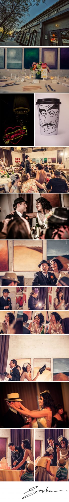 axis cafe gallery wedding