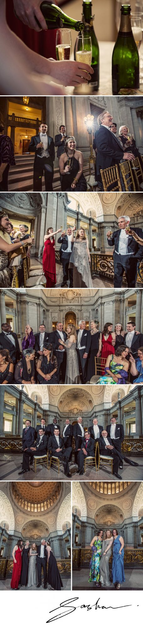 san francisco city hall mayor's balcony wedding