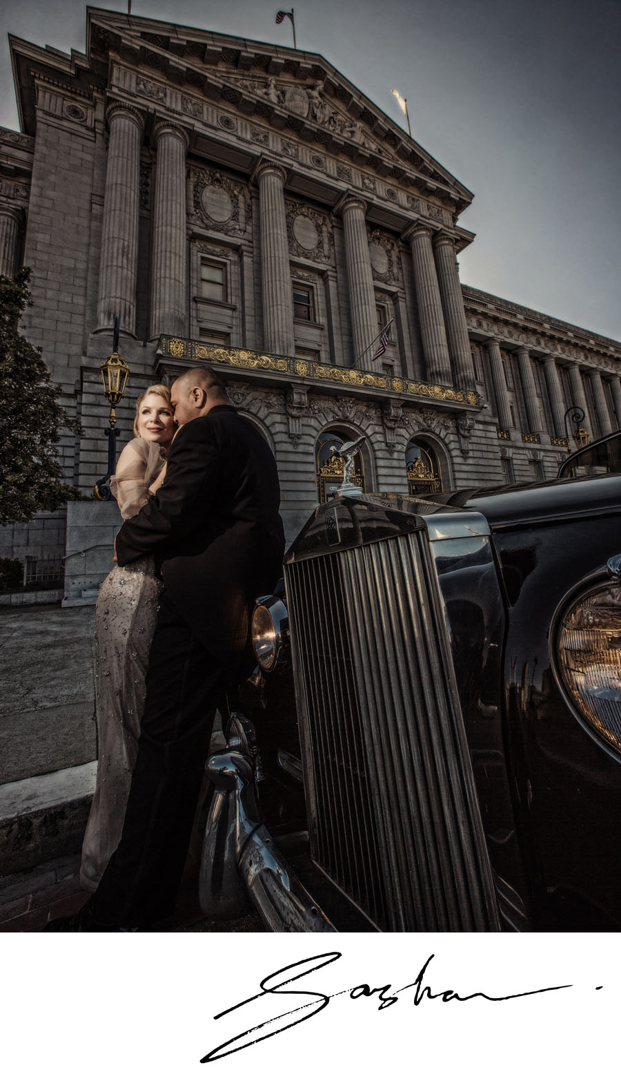 san francisco wedding rolls royce city hall