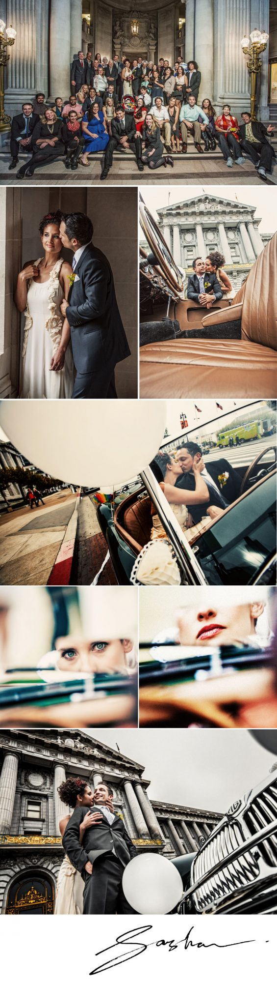 classic san francisco city hall wedding
