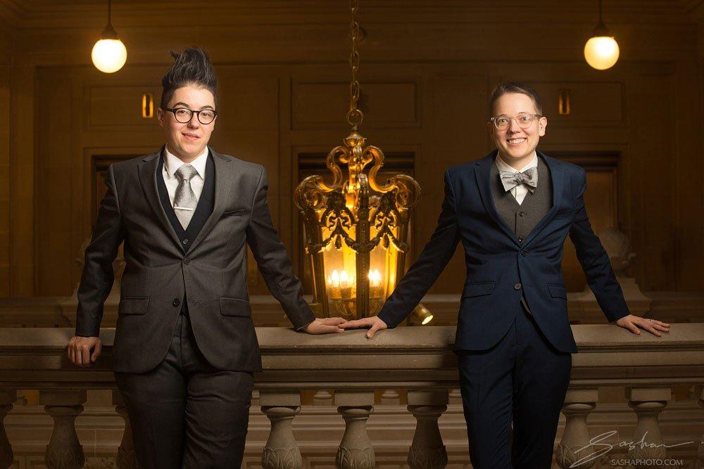 lesbian couple san francisco city hall