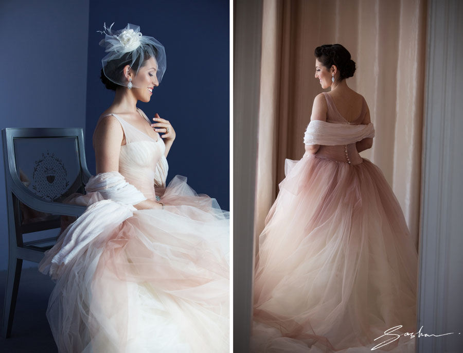 clift hotel bridal portrait