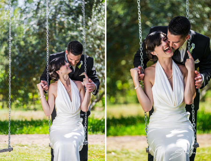 campovida wedding bride groom swing