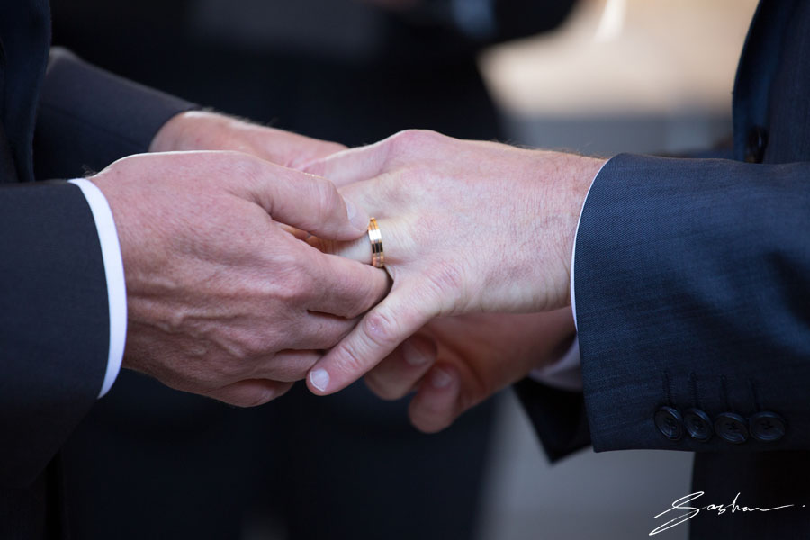 gay wedding ring exchange
