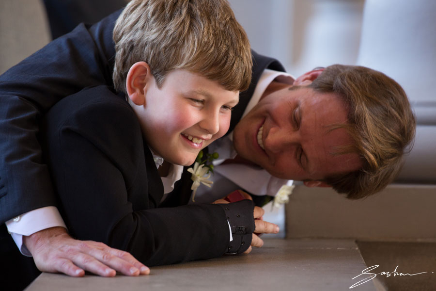 groom with son
