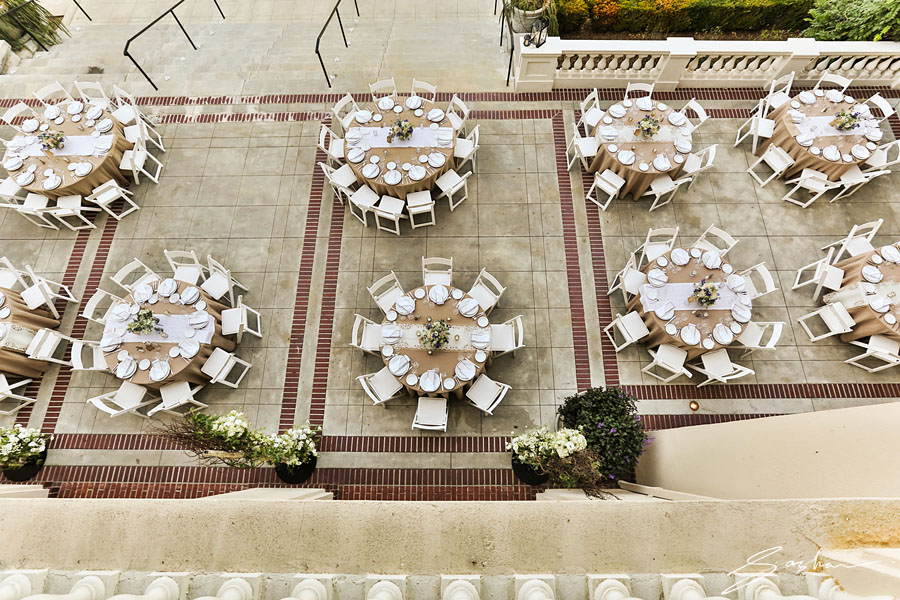 villa montalvo reception from above