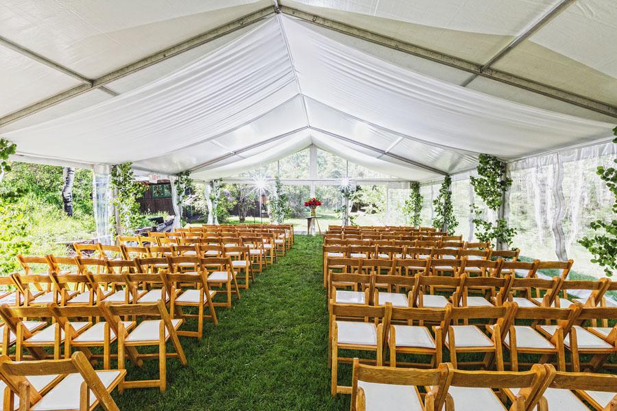 aspen destination wedding tent