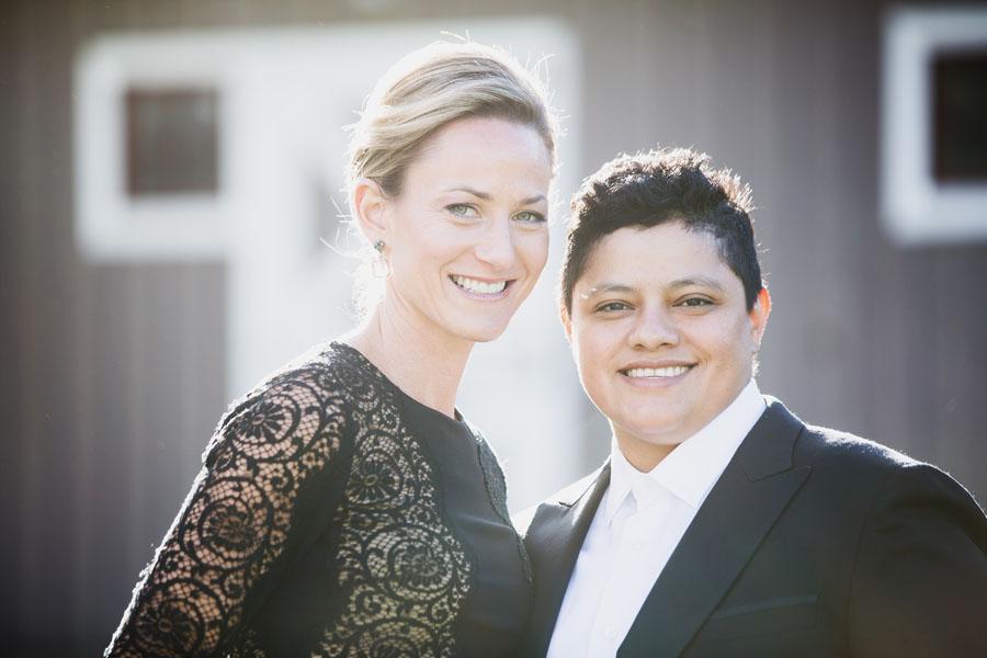 portrait of wedding guests