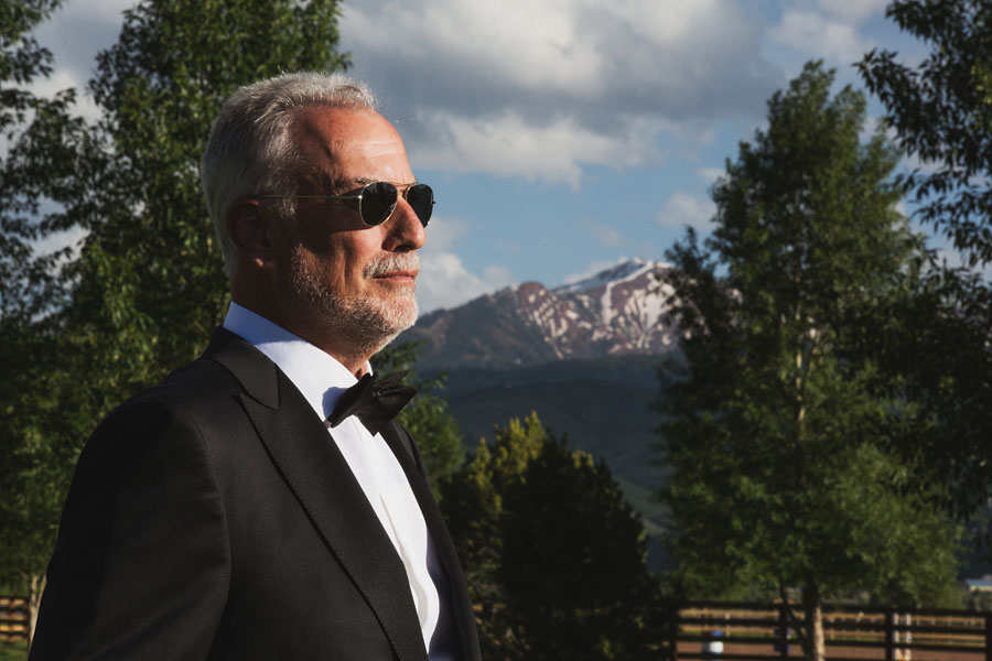 aspen wedding father of the groom