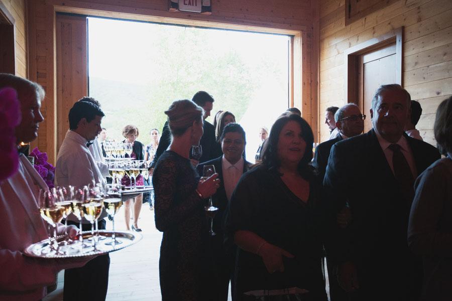 weddings guests enter reception