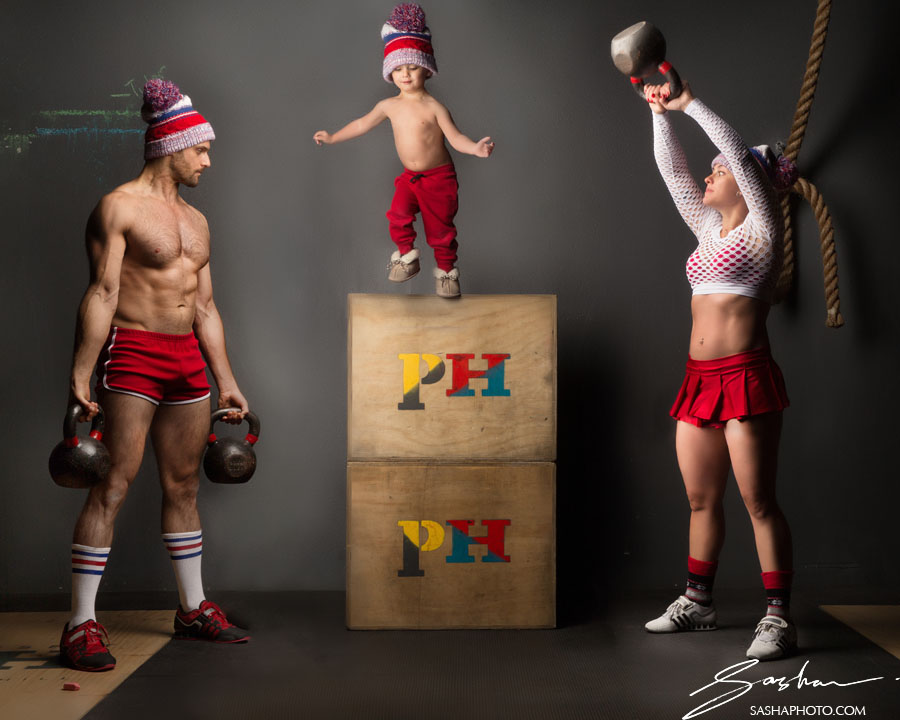 crossfit family photograph