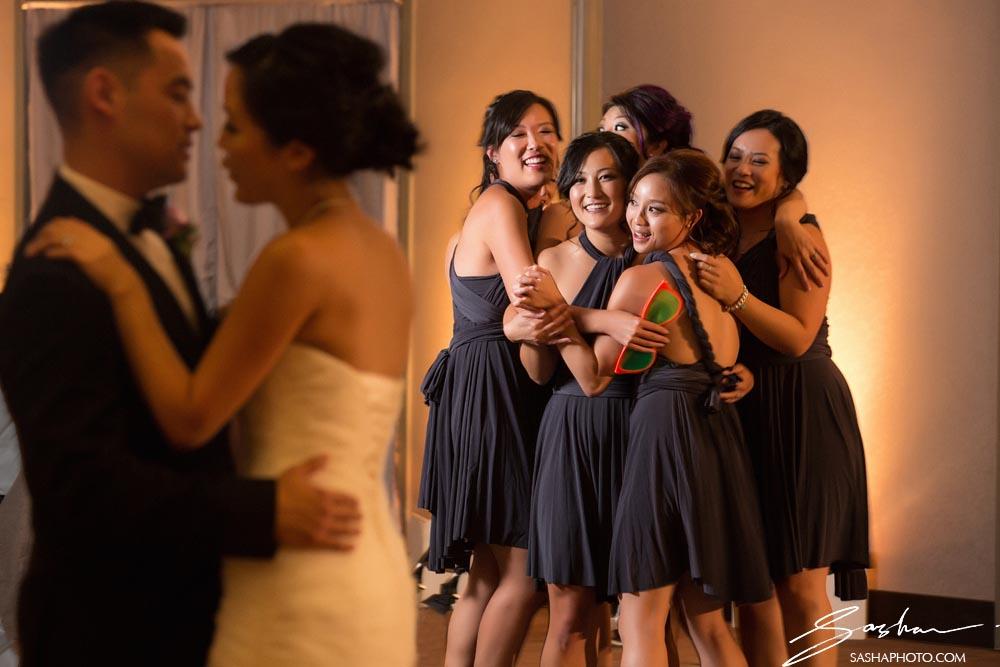 first dance bridesmaids background