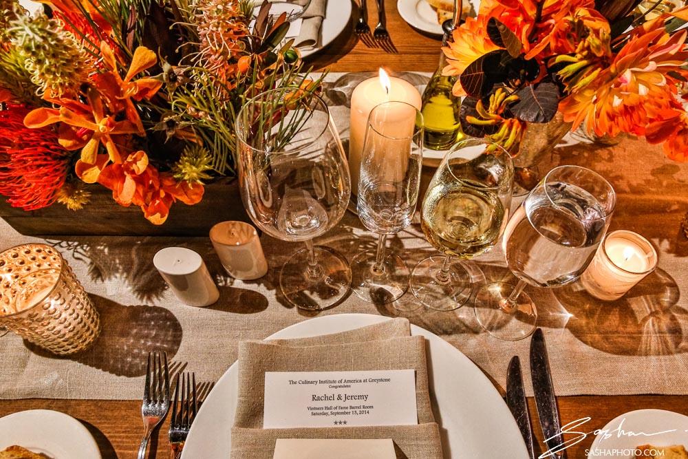 reception decor table