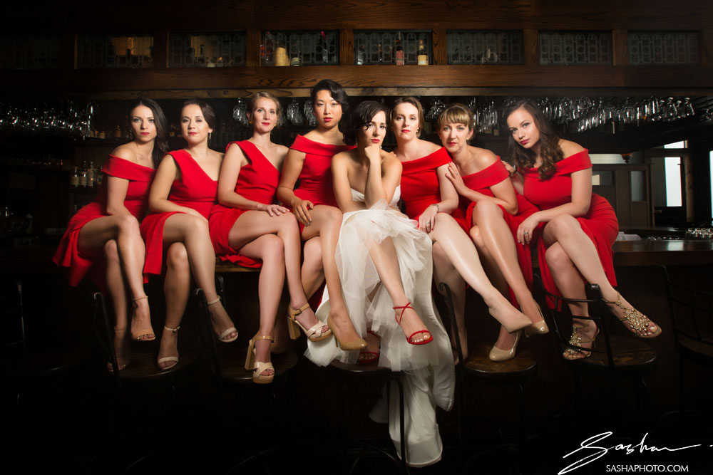 sexy bridesmaids red dresses
