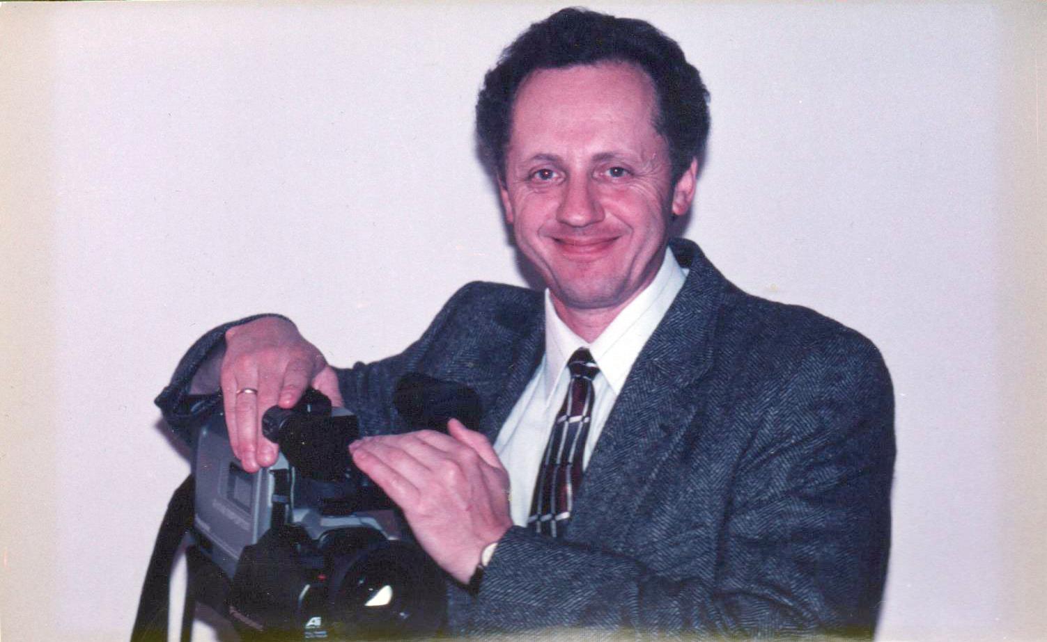 igor yevelev with panasonic camcorder